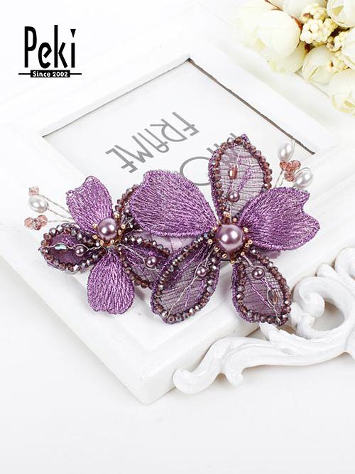 发饰1 材质:金属网、玻璃珠、合成珍珠、合金 货号:PJ22209