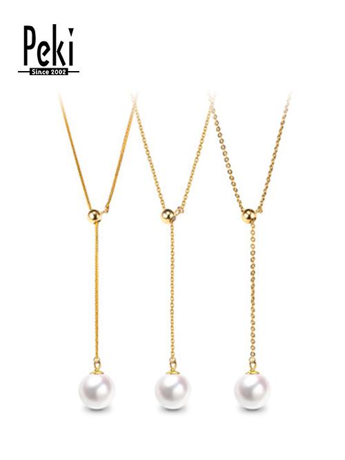 珍珠项链4 材质:珍珠、18k金