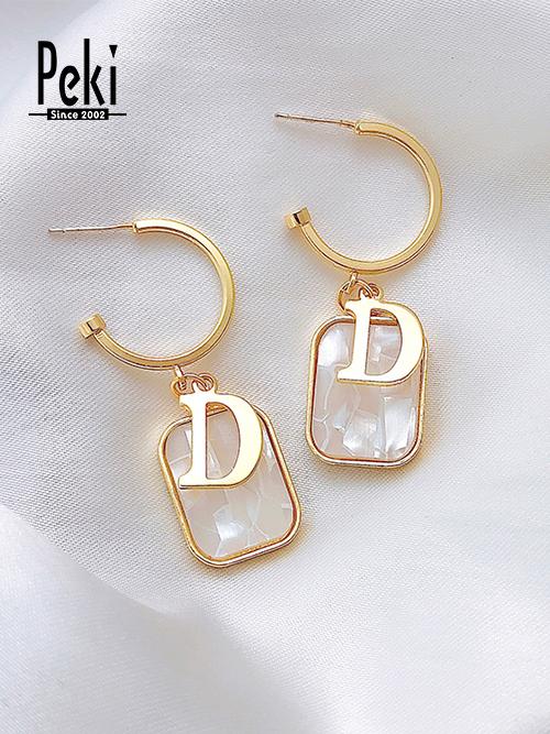 耳环1 材质:925银、树脂